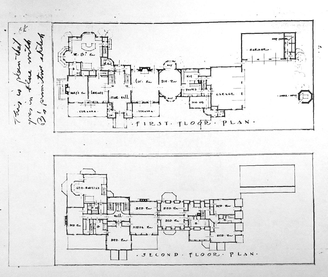 The floor plan for the Big House.