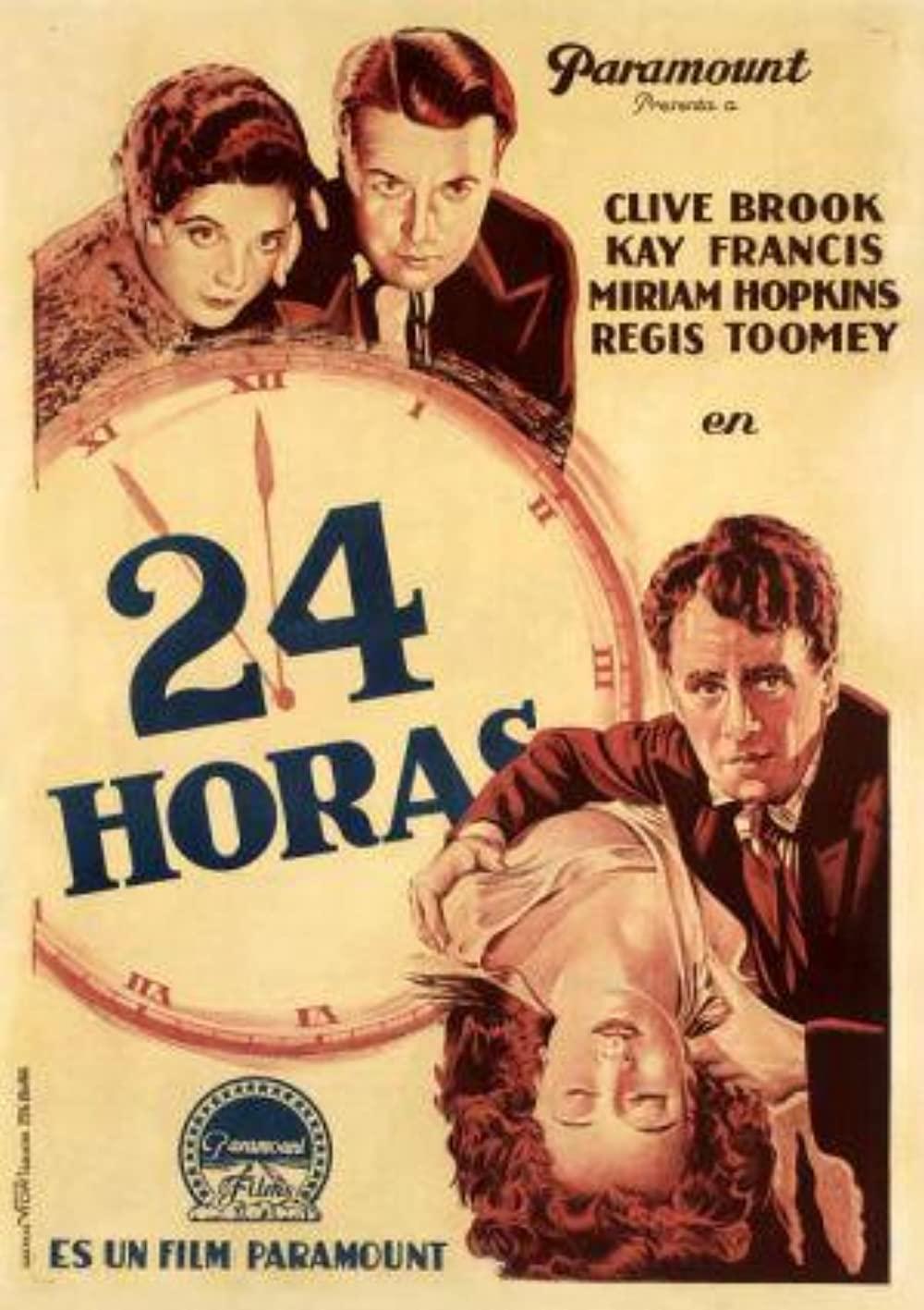 1931 24 Hours (novel) Poster