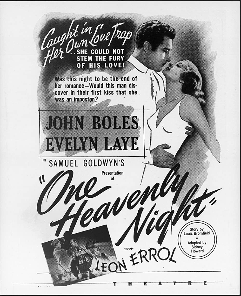 1931 One Heavenly Night (story) Poster
