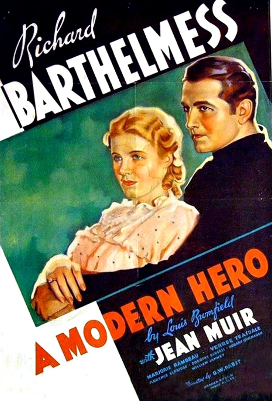 1934 A Modern Hero (novel) Poster