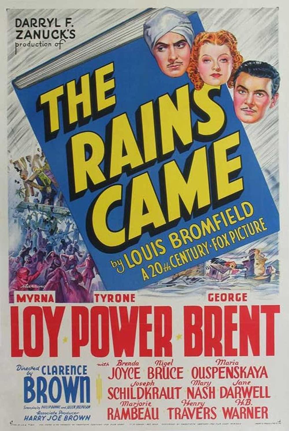 1939 The Rains Came (novel) Poster