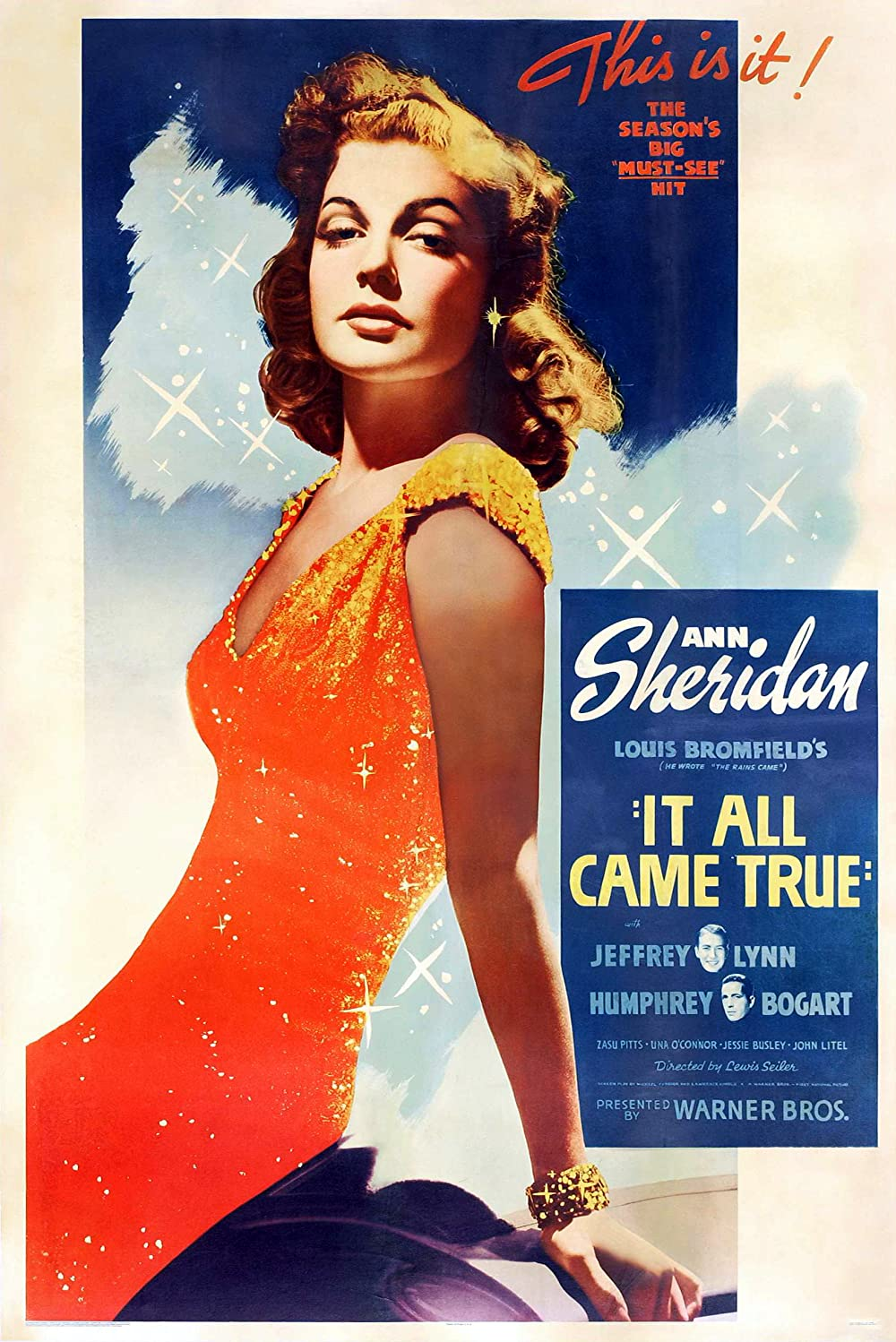 """1940 It All Came True (story """"Better Than Life"""") Poster"""