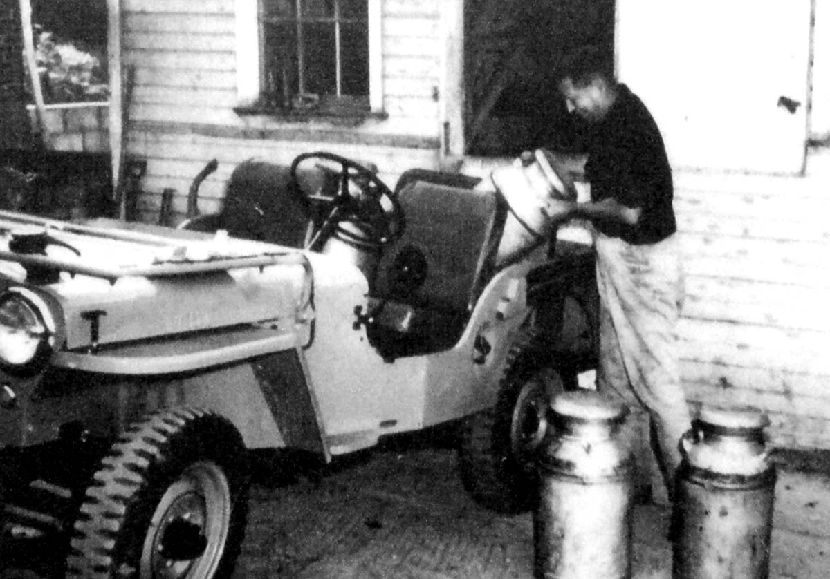 Bromfield with his Willys Jeep