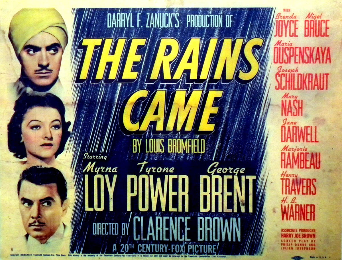 The Rains Came movie poster