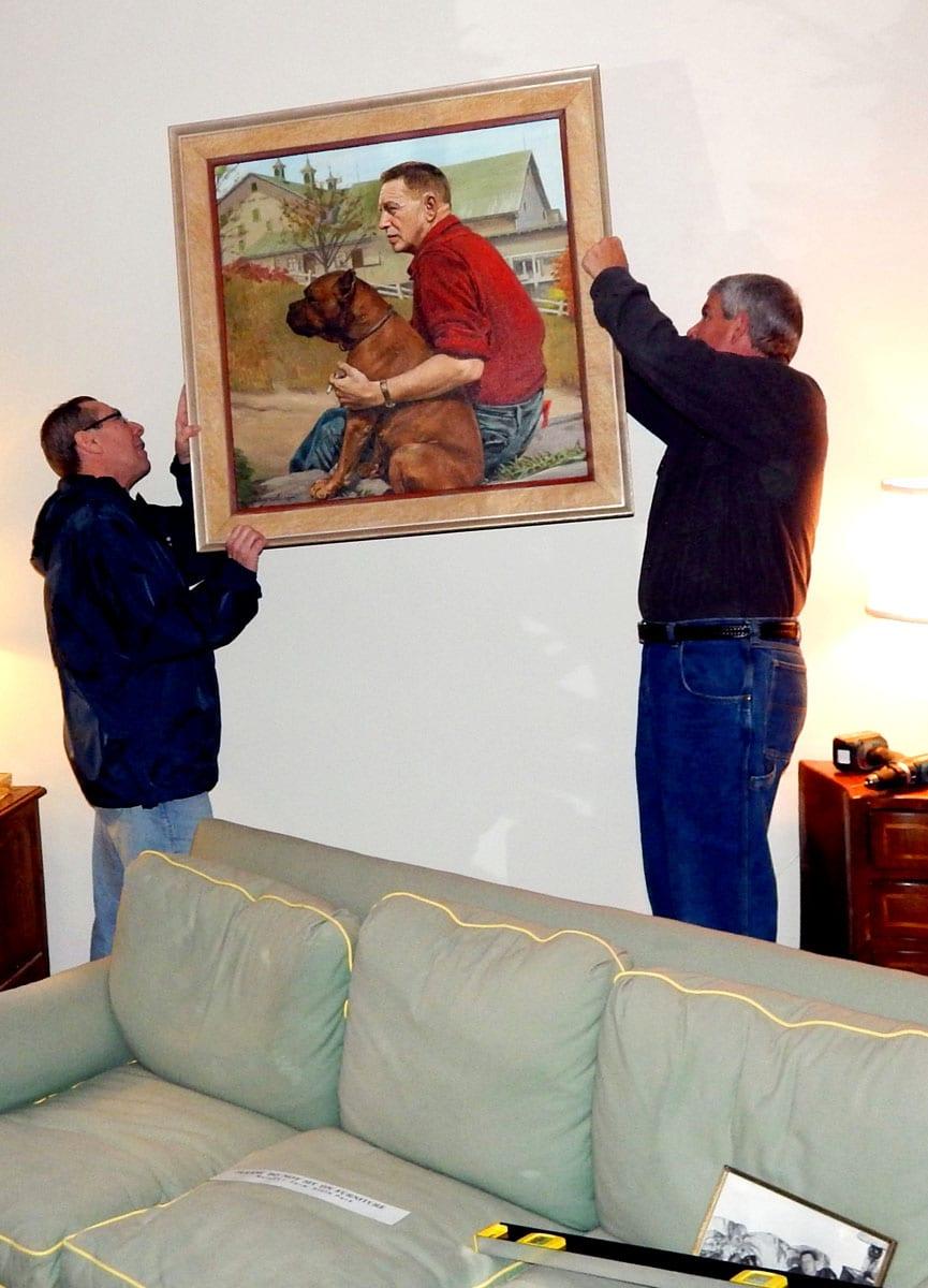 Portrait Painting Bromfield & boxer