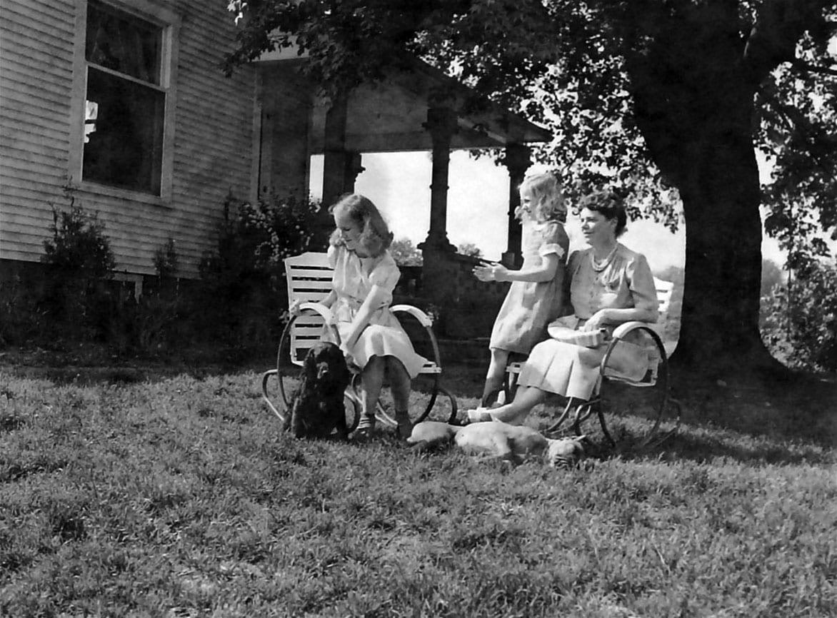 Left to right: Hope (Sitting) Ellen (Standing) Anne (Sitting)